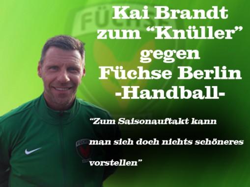 Berlin Ligist Füchse Berlin gegen die Handballer am Samstag den 15.07.2017